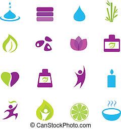 ikony, zen, wellness, woda