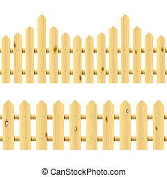 ill., seamless, drewniany, fences.