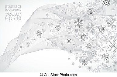illustrat, wektor, zima, tło