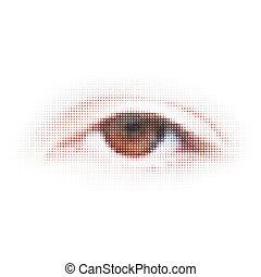illustration., abstrakcyjny, -, eps, cyfrowy, 8, eye.