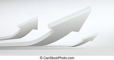 ilustracja, abstrakcyjny, wektor, projektować, strzały, logo, 3d