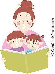 ilustracja, mamusia, przeczytajcie, książka, storytelling, dzieciaki