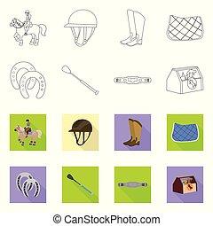 ilustracja, pień, zbiór, poznaczcie., współzawodnictwo, symbol, wyposażenie, web., wektor, jeżdżenie