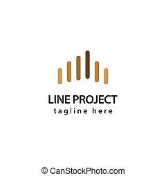 ilustracja, projekt, wektor, projektować, szablon, logo, kreska