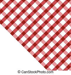 ilustracja, tablecloth, biały czerwony