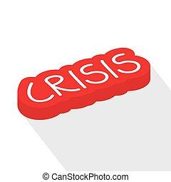 ilustracja, wektor, concept-, świat, kryzys