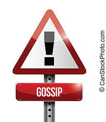 ilustracja, znak, ostrzeżenie, projektować, plotka, droga