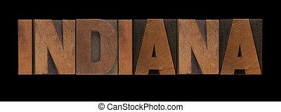 indiana, stary, drewno, typ