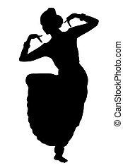 indianin, taniec, izolować