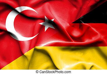indyk, falując banderę, niemcy