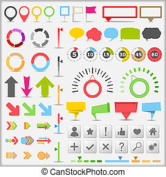 infographic, elementy