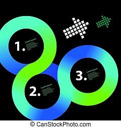 infographic, koło, wektor, szablon