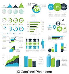 infographic, sieć, wektor, elementy