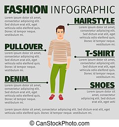infographic, sweter, fason, człowiek