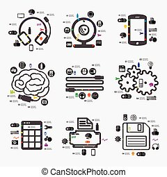 infographic, technologia