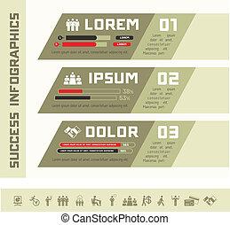 infographic, template., handlowy