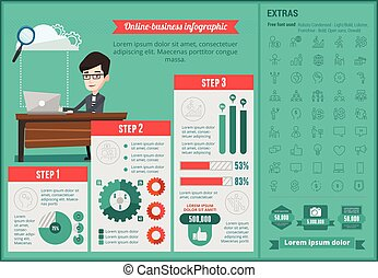 infographic, template., online-business