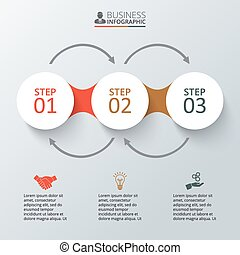 infographic., wektor, elementy