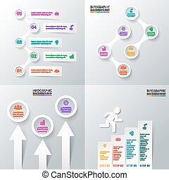infographic., wektor, komplet, elementy