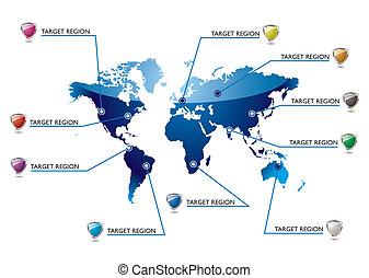 informacja, światowa mapa