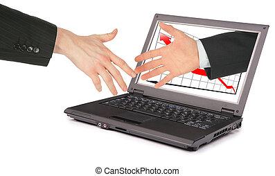 informacja, collage, komputerowa technologia, współudział