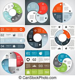 informacja, graficzny, handlowy, nowoczesny, projekt, wektor