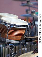 instrument, komplet, bęben