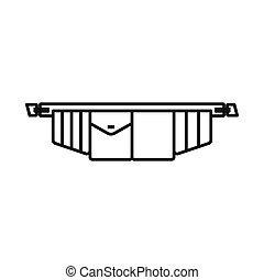instrument pasek, wektor, pień, projektować, symbol, web., symbol., graficzny, toolbag