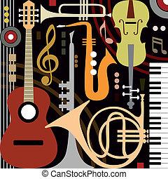 instrumentować, abstrakcyjny, muzyczny