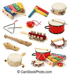 instrumentować, muzyczny, zbiór