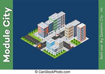 inteligencja, miejski, architektura