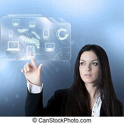 interfejs, technologia, faktyczny