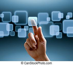 interfejs, touchscreen