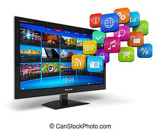 internet, telewizja, pojęcie