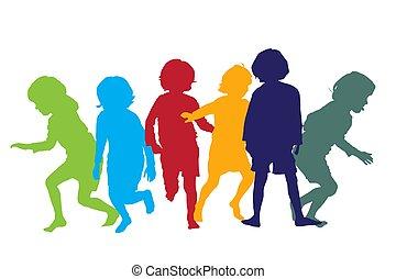 interpretacja, 5, dzieci, sylwetka