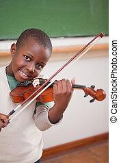 interpretacja, chłopiec, skrzypce, portret