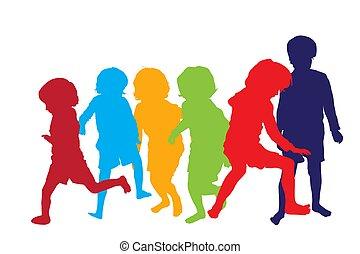interpretacja, dzieci, 2, sylwetka
