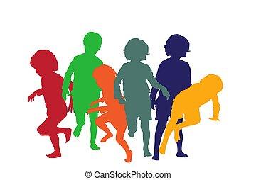 interpretacja, dzieci, 4, sylwetka