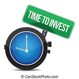 inwestować, pojęcie, ilustracja, czas