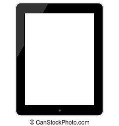 ipad, styl, tabliczka, ekran, czarnoskóry, dotyk