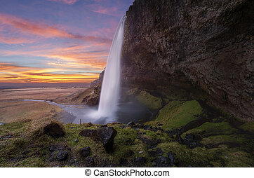 islandia, seljalandsfoss, wodospady