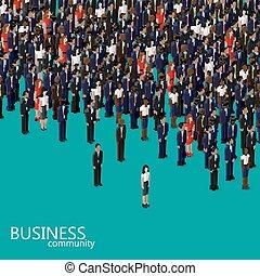 isometric, handlowy, communi, ilustracja, wektor, polityka, albo, 3d