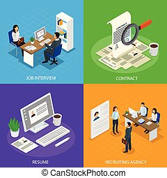 isometric, pojęcie, zatrudnienie, werbunek