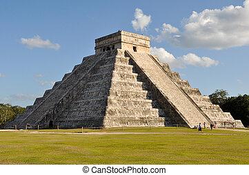 itza, chichen, mayan, świątynia