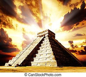 itza, chichen, mayan, piramida