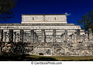 itza, chichen, skronie, świątynia