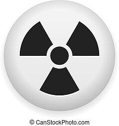 jądrowy, symbol, ryzykować