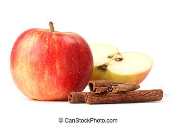 jabłka, cynamon