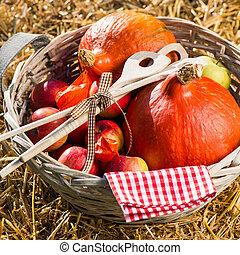 jabłka, dynie