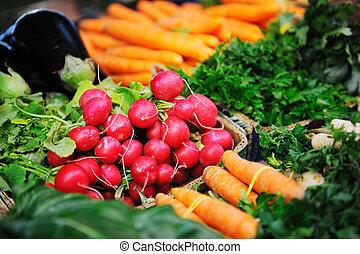 jadło, świeża zielenina, organiczny, targ